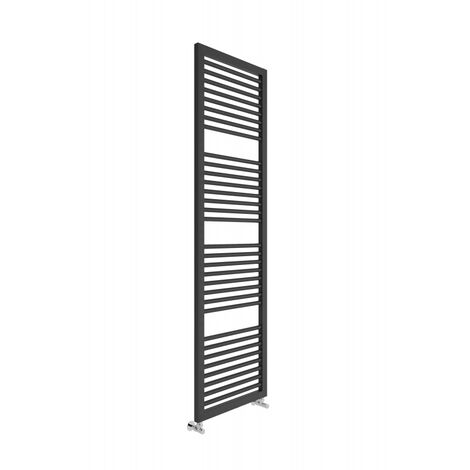 Lazzarini Asti Carbon Steel Designer Heated Towel Rail Anthracite 1813mm x 500mm