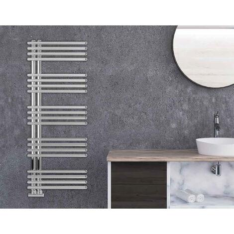 Lazzarini Como Carbon Steel Designer Heated Towel Rail Anthracite 800mm x 500mm