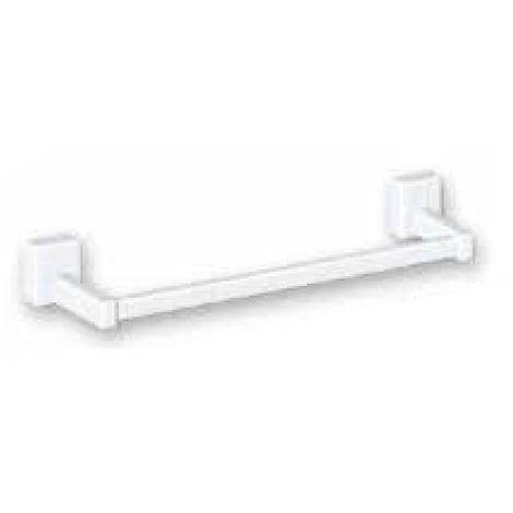 Lazzarini Dalia - Porte-serviettes barre magnétique pour radiateurs sèche-serviettes, en ABS blanc. Longueur 400 mm (code 385032)