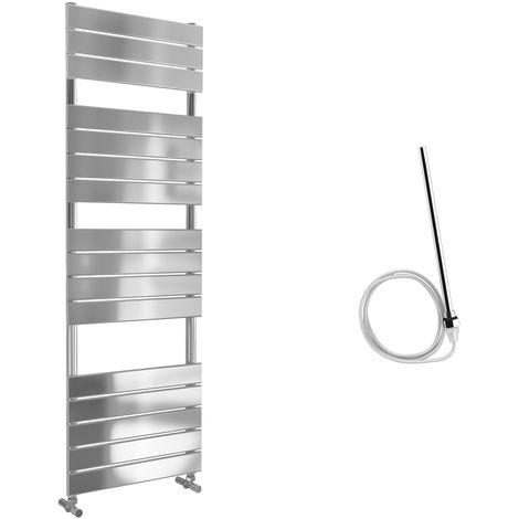 Lazzarini Egadi Straight Chrome Designer Heated Towel Rail 1512mm x 500mm Electric Only - Non-Thermostatic