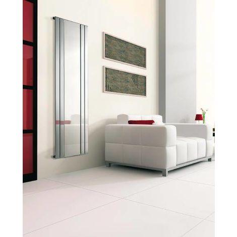 Lazzarini Empoli Chrome Vertical Designer Radiator with Mirror 1800mm x 750mm