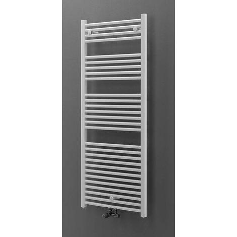 Lazzarini Multi-Rail White Curved Heated Towel Rail 1110mm x 500mm