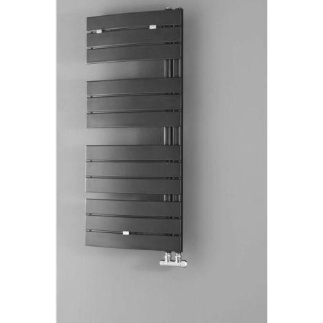 Lazzarini Pieve Anthracite Designer Heated Towel Rail 1380mm x 550mm