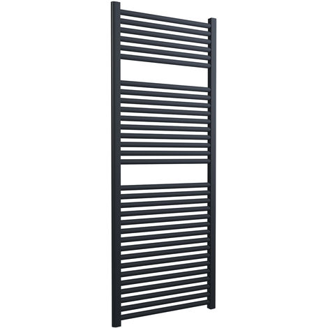Lazzarini Roma Straight 25mm Anthracite Ladder Heated Towel Rail 1512mm x 600mm Central Heating