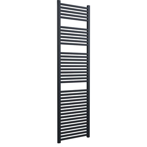 Lazzarini Roma Straight 25mm Anthracite Ladder Heated Towel Rail 1785mm x 500mm Central Heating