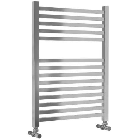 Lazzarini Todi Straight Chrome Designer Heated Towel Rail 690mm x 500mm Central Heating