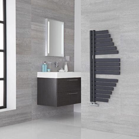 Lazzarini Way Spinnaker Carbon Steel Designer Towel Rail Anthracite 1100mm x 483mm