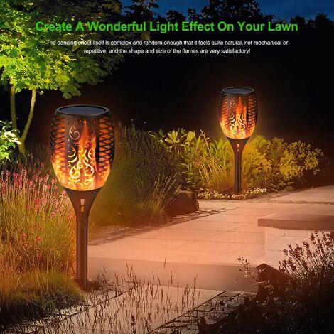 LB-S8023 Lampe de jardin solaire Torch Flame mené Pelouse Jardin Paysage Lumière