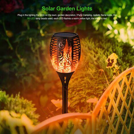 LB-S8023 Lampe de jardin solaire Torche Flamme mené Pelouse Jardin Paysage Lumière 2 pièces