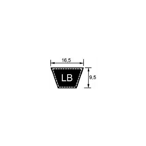 LB48 - Courroie LB48 (16,5x1219mm LP)
