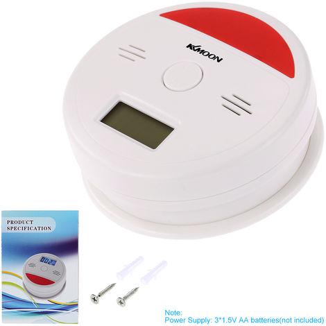 LCD CO alarma de monoxido de carbono, sensor de envenenamiento de gases de humo probador