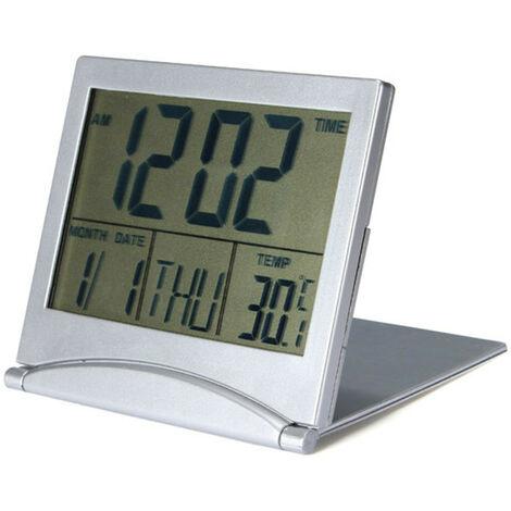 Lcd Digital Clock Led Digital Temperature Alarm Fahrenheit Office Uk