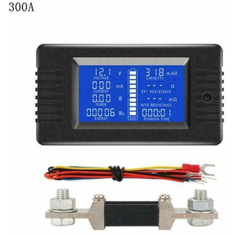 LCD Display Battery Monitor DC Meter 200V Volt Amp For Car Vehicle Solar System (300A)