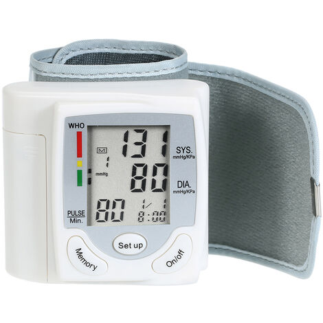 LCD Display Blood Pressure Monitor Wrist Pulse Meter Automatic Digital Pulsometer Sphygmomanometer Family Diagnostic-tool