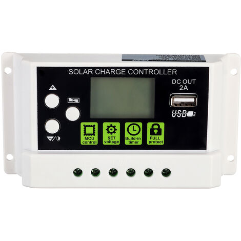 LCD Solar Panel Battery Regulator Charge Controller 780W 30A USB 390W