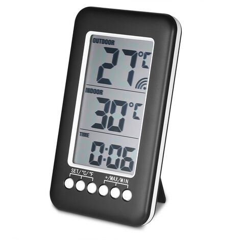 LCD temperature clock CJ3315RF (with transmitter) shipped without battery