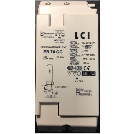 LCI 1211070 70W HID lastre electr