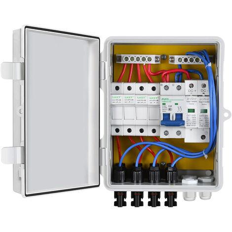 Le boîtier de combinaison solaire PV à 4 cordes fait converger le générateur photovoltaïque d'entrée 10A pour le panneau solaire