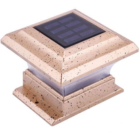 Le capuchon de poteau solaire allume la lampe de cloture pour les poteaux de 3,8 x 3,8 pouces, l'eclairage exterieur pour les poteaux en bois, la lanterne de poteau a LED resistante a l'eau IP44 pour le porche de la passerelle de jardin