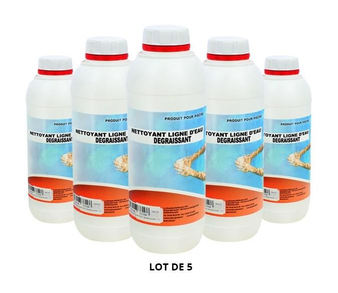 Nettoyant ligne d'eau dégraissant - 5x1L de Nettoyant - Swimmer