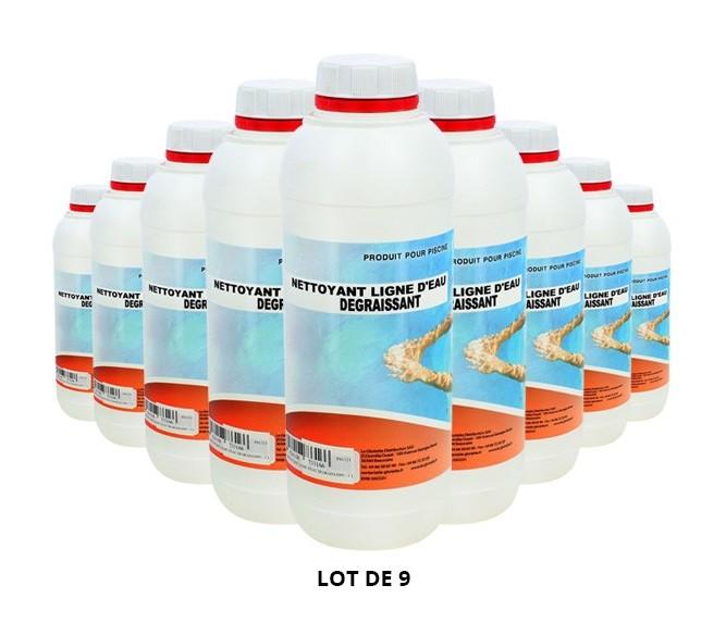 Nettoyant ligne d'eau dégraissant - 9x1L de Nettoyant - Swimmer