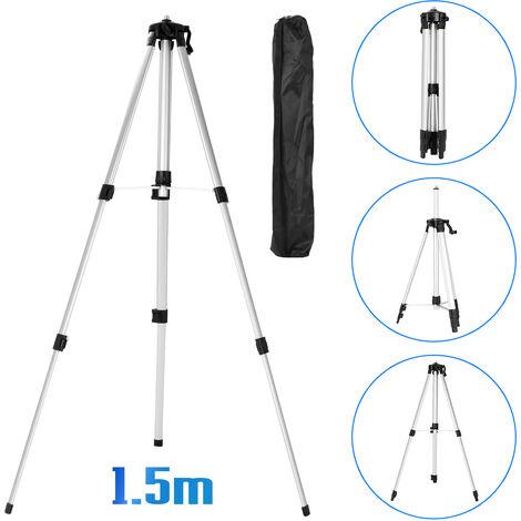 Le niveau de 1,5 m peut soulever le support de poteau telescopique de niveau laser de trepied