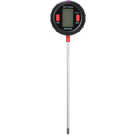 Le nouveau solmetre cinq en un pH, acidite du sol, humidite, temperature, photometrie, photometrie PH, detecteur multifonction, gris (livre sans batterie)