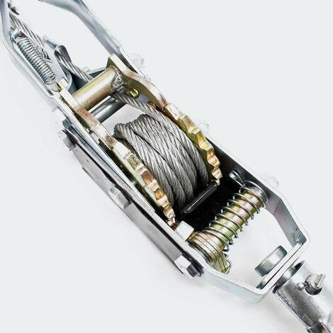 Le palan manuel 4000kg 3m 2 transmission 2 crochet outils garage atelier bricolage - Noir