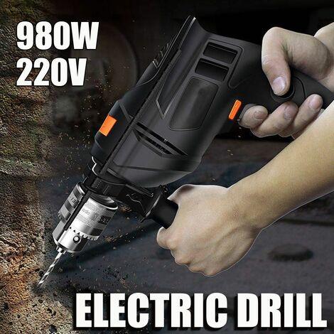 Le pistolet à percussion électrique Mutifuction peut être un outil électrique de polissage de meuleuse d'angle de tournevis de perceuse électrique (220 V 980 W)
