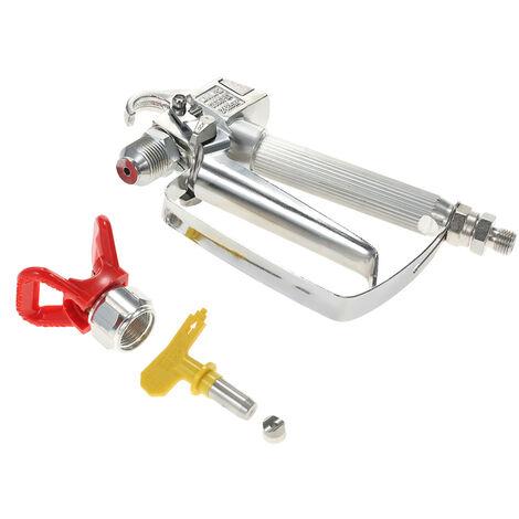 Le pistolet de pulverisation airless 3600psi + base rouge + buse jaune convient au pulverisateur Graco Wagner Titan