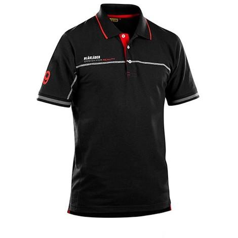 Le Polo Blaklader Noir/Rouge 3327 Blaklader