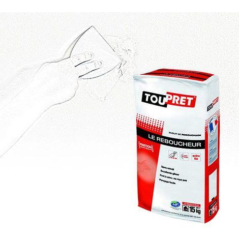 Le reboucheur cachet rouge Toupret : enduit de rebouchage en poudre sans limite d'épaisseur