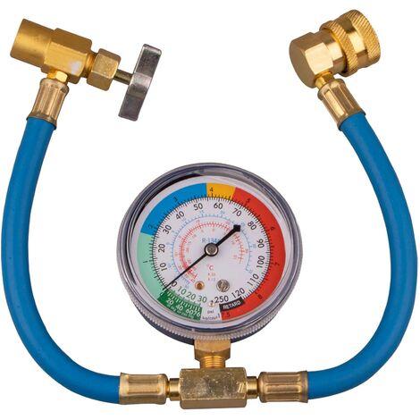 """main image of """"Le refrigerant de climatisation automatique mesure la jauge d'air de tuyau automatique Suite R134A, modele: bleu et or 22"""""""