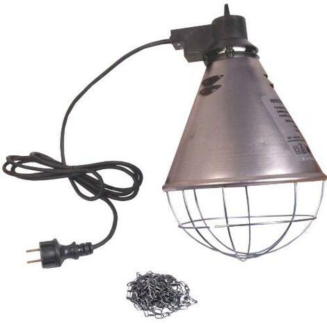 Le support de lampe infrarouge vous permet de garder votre animal au chaud en toute sécurité.