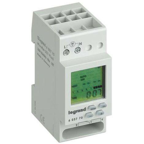 Le temps de l'interrupteur Legrand MICROREXPLUS hebdomadaire numérique 230V 603770