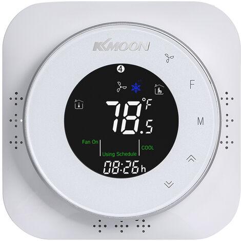 Le thermostat de pompe ¨¤ chaleur KKmoon BHP-6000 peut contr?ler le chauffage / refroidissement L'¨¦cran LCD 4 couleurs prend en charge 14 langues