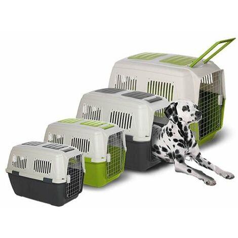 Le transporteur canin est conforme à la réglementation IATA IBÁÑEZ DELUXE, disponible en plusieurs options, avec la possibilité de monter des roues (incluses).