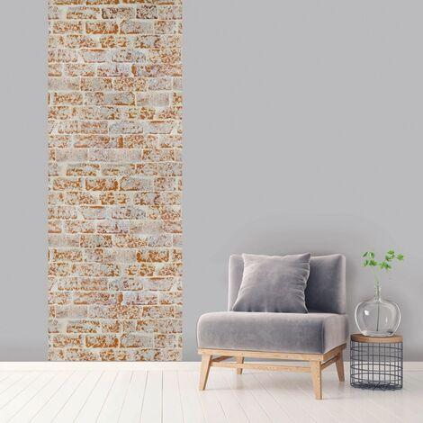 Lé unique vertical Bricky 100 x 270 cm - Marron Clair