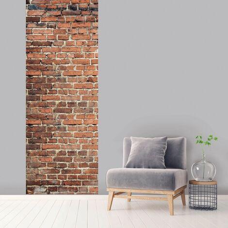 Lé unique vertical Brique 100 x 270 cm - Marron