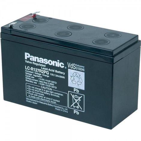 Lead Battery 12 V - 7,2AMP/HR Panasonicfor Electric Fence Energiser 12V Battery Gemi Elettronica