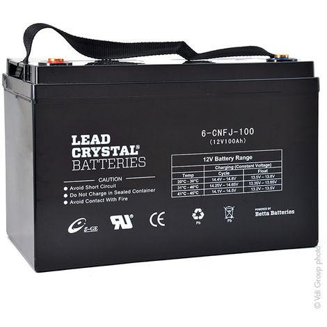 Lead crystal battery 6-CNFJ-100 12V 100Ah M6-F