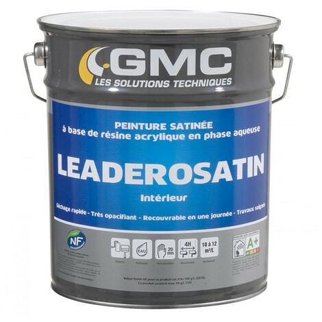 LEADEROSATIN BLANC 4L -La solution pour une finition satin tendue, très opacifiante.-GMC