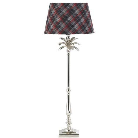 Leaf Decorative Large Table Lamp Base Only Polished Nickel Plate