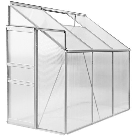 Lean To Greenhouse Deuba Polycarbonate Aluminum Rain Gutter Window 192 x 127 x 202 cm