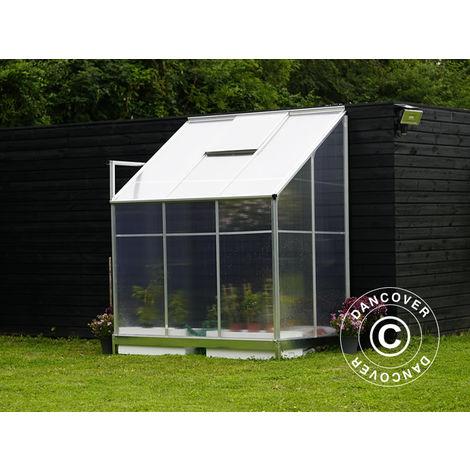 "main image of ""Lean-to Greenhouse Polycarbonate, 2.4 m², 1.25x1.92x2.21 m, Aluminium"""