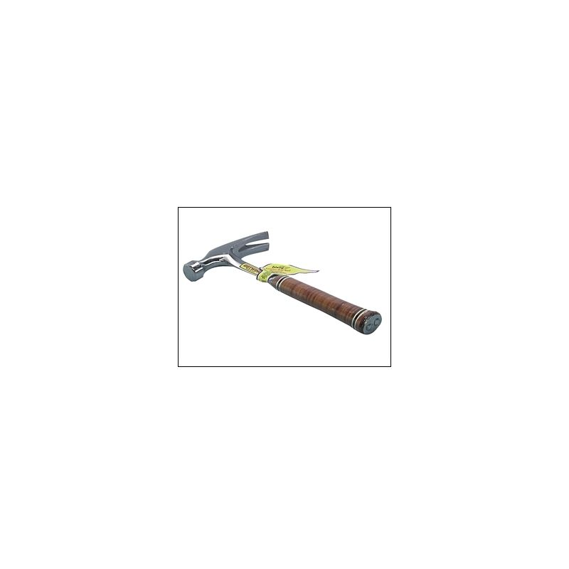 Image of Estwing E20S Straight Claw Hammer - Leather Grip 20oz
