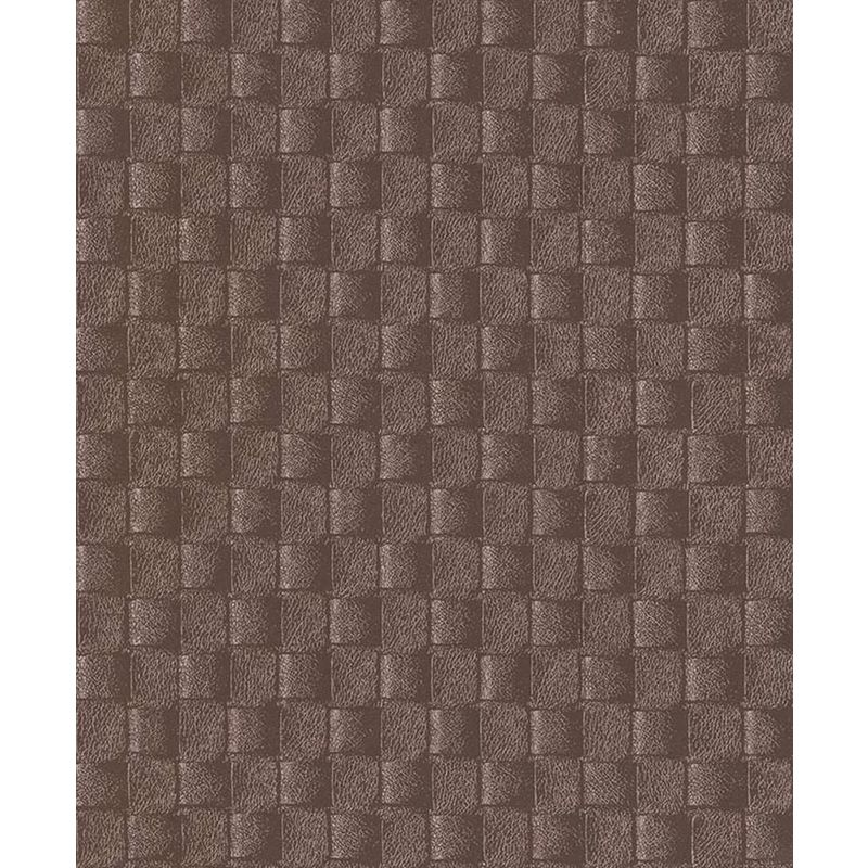 Image of Erismann - 3D Effect Leather Pattern Wallpaper Brown Metallic Gold Paste The Wall Vinyl