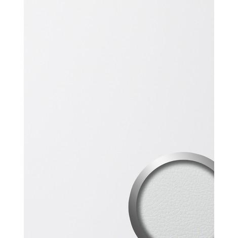 LEATHER Panneau mural autoadhésif de luxe WallFace 13467 Dessin cuire Revêtement mural de structure blanc 2,60 m2