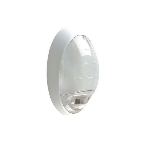 L'ébénoïd 079550 Hublot ATOLL à Détecteur de passage - 75W E27 IP44 IK04 - blanc