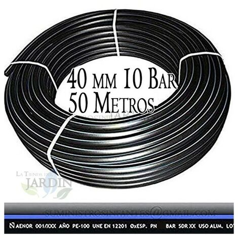 "main image of ""Lebensmittel Polyethylenrohr 40mm 10 bar 50m PE100 hohe Dichte"""